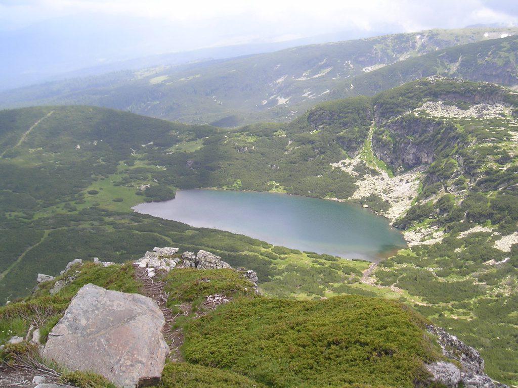 Jedno ze sedmi rilských jezer.