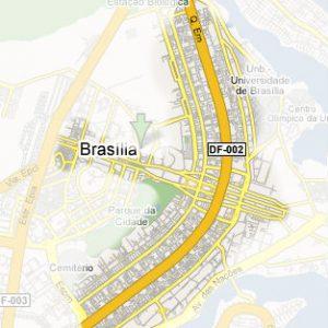 Brazilské hlavní město Brasil vypadá z letadla jako letadlo.