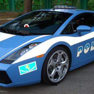 Italská dopravní policie používá dva vozy Lamborghini Gallardo.