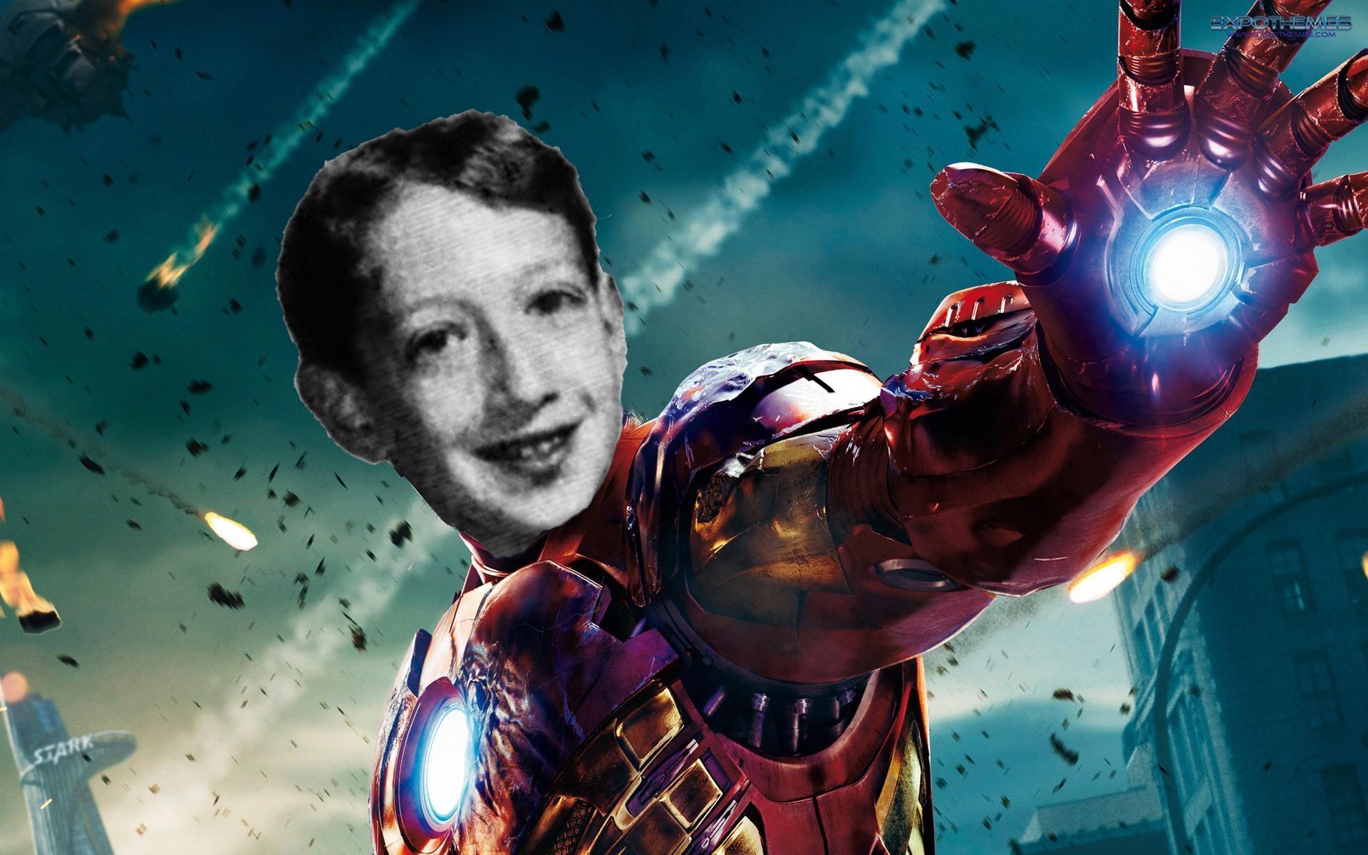 Mark Zuckerberg jako A.I. J.A.R.V.I.S. z filmu Iron Man