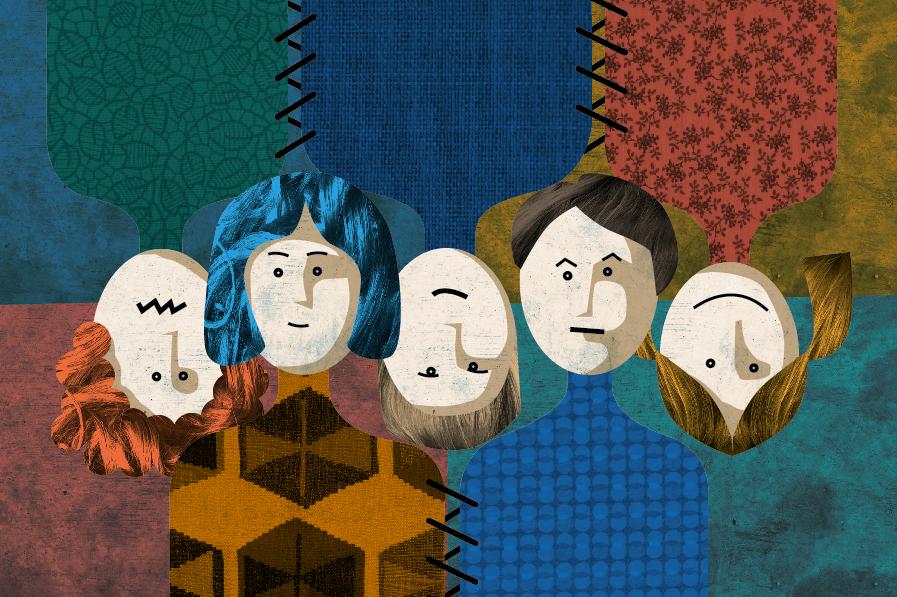 rodina, nukleární, patchwork